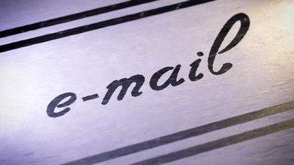 """e-mail"". looping."