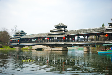 Chinese Traditional Bridge at The Shangri-La Guilin, Guilin