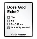 Market Research God Sign