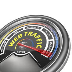 vector web traffic conceptual meter indicator