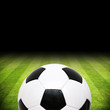 Fussballrasen mit Ball