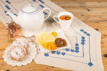 Teatime with roibos and ensaimada