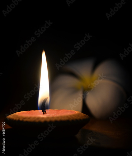 canvas print picture candle