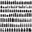 bottle icon collection,  vector isolated silhouette of package - 66594938