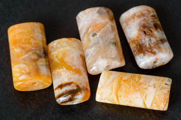 Agate rectangle beads