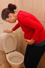 Pregnancy - pregnant woman morning sickness