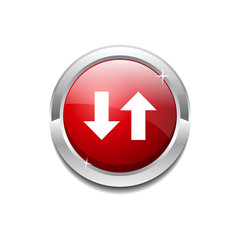 Data Circular Vector Red Web Icon Button