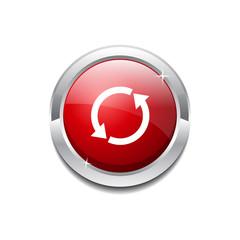 Reset Sync Circular Vector Red Web Icon Button
