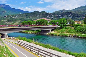 River in Riva del Garda, Italy