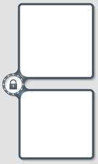 double box for entering text with arrows and padlock