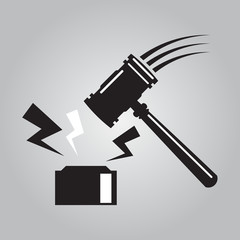 Hammer of judge symbol,vector EPS10