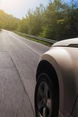 Speeding Car in Blurred Motion