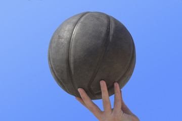 Detail of basket-ball.