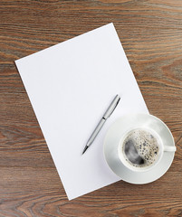 coffee cup on blank