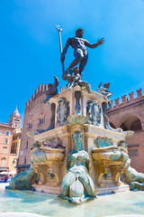 Fountain of Neptune, Bologna, Italy.