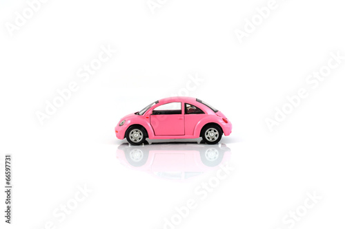 Toy car isolated on white - 66597731