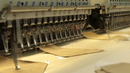industrial embroidery and sewing machine