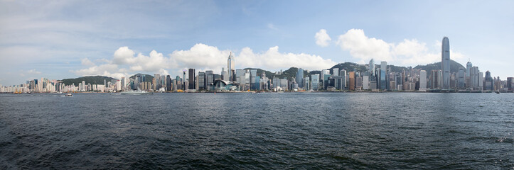 Hong Kong Island Central City Skyline