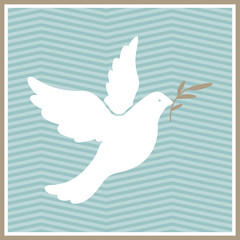 Vector Illustration of a Dove of Peace
