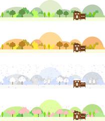 山小屋と四季
