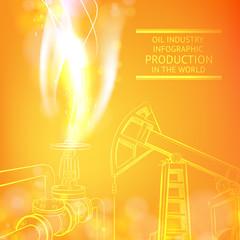 Oil Pump on orange.