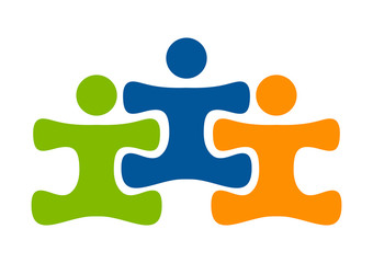 team work health logo, education play & learn