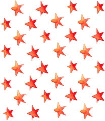 Seamless watercolor stars pattern