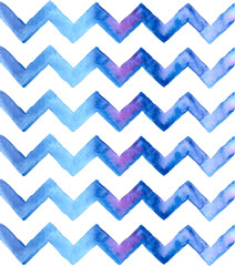 Chevron watercolor blue Background