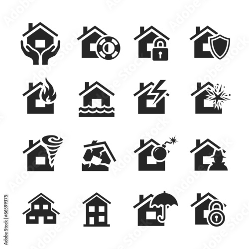 Property insurance icons - 66599375