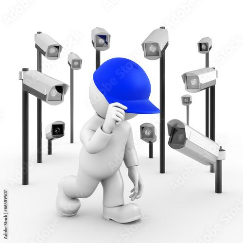 Leinwandbild Motiv Überwachungskameras