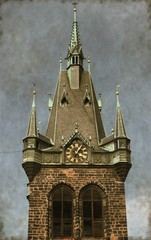 Jindrisska Tower in Prague, Czech Republic - Vintage