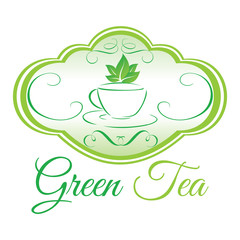 green tea sign