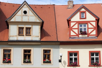 Traditional timbered house in Czech Republic