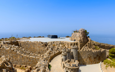 View of the Gun Batteries of Castillito Cabo Tinoso Spain
