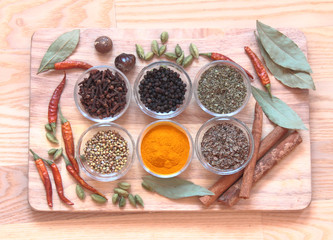 spices on the table, useful for acute,