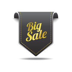 Big Sale Gold Black Label Icon Vector Design