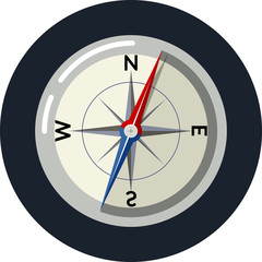 Vector compass  flat icon