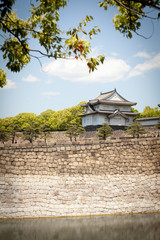 osaka castle turret, the north turret castle,Japan. MAY 17,2014