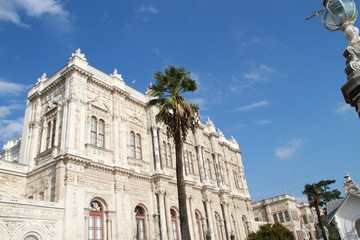 Royal building from sideways in Dolmabahce palace, Istanbul