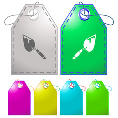 Trowel. Vector tags.