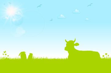 Wiese mit Kuh