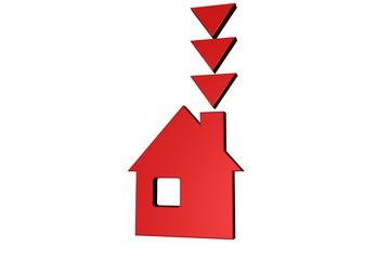 Dalende huizen prijzen