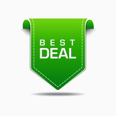 Best Deal Green Label Icon Vector Design