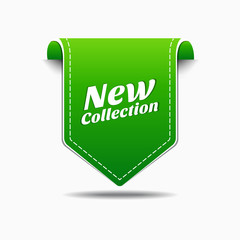 New Green Label Icon Vector Design