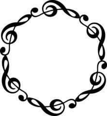 Notenschlüssel, Musik Noten, Rahmen