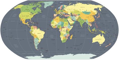 "carte du monde ""+5 calques propres"""