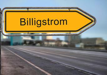 Strassenschild 14 - Billigstrom