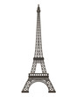 Leinwanddruck Bild - Eiffel Tower Isolated