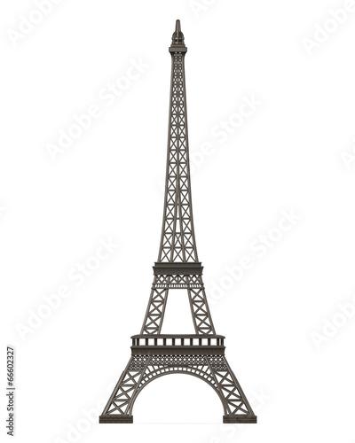 Leinwanddruck Bild Eiffel Tower Isolated