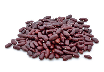 Kidney bean isolated on the white background